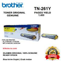 BROTHER Toner TN-261Y   TN261Y   TN261 Y Original Yellow