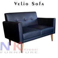 Velio sofa 2 seater scandinavian, sofa 2 dudukan apartment, bisa COD