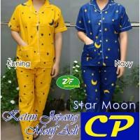 Piyama CP - Star Moon - Katun Jepang / Baju Tidur Wanita Dewasa