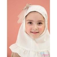 Jilbab Anak Nadira - Jilbab Ruffle (White)