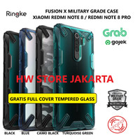 Case Xiaomi Redmi Note 8 Pro / Note 8 Ringke Fusion X Original Casing - Camo Black, Note 8 Pro