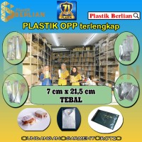 7 x 21,5 cm Plastik OPP TEBAL (100 lbr) (lem/seal)