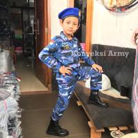 Baju Anak Loreng TNI AU setelan lengkap