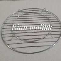 Alat pendingin kue/cooling rack stainless diameter 21 cm