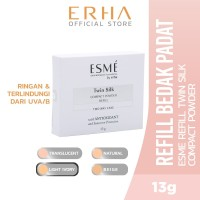 ESME Refill Twin Silk Compact Powder Light Ivory 13g - Bedak Wajah