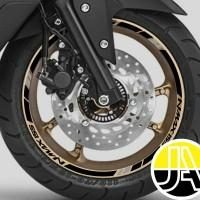 Stiker list velg motor Yamaha All new Nmax 155 black ring 13