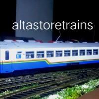 Miniatur Kereta api gerbong penumpang livery bisnis
