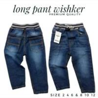 Celana Panjang Jeans Anak Wisker Rib Salur BEST SELLER..Bisa COD