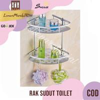 Rak sudut Dinding toilet Aluminium size 22 x29,5x T39cm,SHENAR