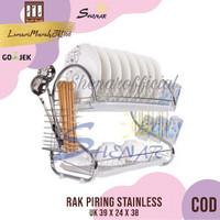 Rak Piring 2 Susun / 2 Layer Dish Drainer Stainless,SHENAR