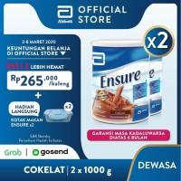 Ensure Coklat 1000 g Susu Nutrisi Dewasa Rendah Laktosa - 2 klg