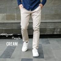 Celana Chino Panjang Termurah Berkualitas - Cream, 27