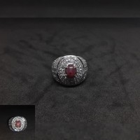 cincin batu permata NATURAL RUBY STAR