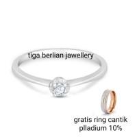 cincin berlian mata tunggal/soliter