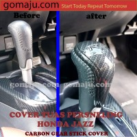 HONDA JAZZ GK5 CARBON GEAR STICK COVER GEAR KNOB COVER PERSNELING JAZZ