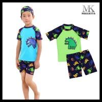 Baju Renang Anak Laki Laki Karakter Dino Satu Set Tanpa Topi Kode 648