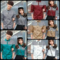 Kemeja Couple Leo - Pakaian Fashion Distro Bandung - Baju Berpasangan
