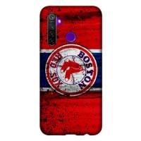 Hardcase Casing Realme 5 Boston Red Sox Grunge Baseball Clu