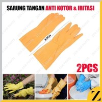 A_sarung tangan CUCI karet L latex panjang bersih bersih anti air 32