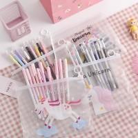 LM.10pcs gel pena siswa ujian set perlengkapan kantor sekolah pensil