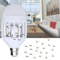 Mb AC220V E27 B22 7W LED Mosquito Bug Zapper Light Bulb Flying