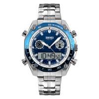 Mb SKMEI 1204 Dual Dsplay Digital Watch Men Stainless Steel