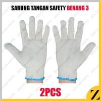 A_sarung tangan RAJUT benang 3 working glove 1 pasang grosir mur