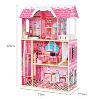 mainan rumah rumahan barbie kayu model terbaru bonus boneka ivy rose