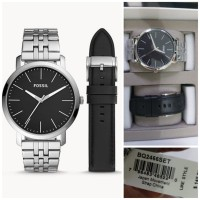 Ready FOSSIL BQ2466 Luther Three-Hand Interchangeable Strap Gift set