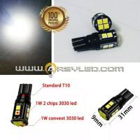 Lampu LED T10 BLACK CASE CREE 3030 Super Senja Mundur Mobil Motor