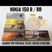GEARSET/GIRSET/ GIR SET SSS 428 BAJA NINJA 150 R/RR RANTAI GOLD 130 SB