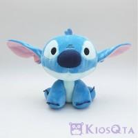boneka stitch sitting biru kepala besar L