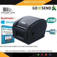 PRINTER BARCODE THERMAL / LABEL PRINTER XPRINTER XP-360B - USB -STIKER