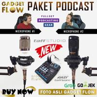 PAKET PODCAST Mic Microphone BM800 BM 800 Mixer A4 Youtube Recording