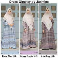 Dress Qinanty New Size L-XXL -Hanya Dress- Gamis Syari by Jasmine