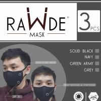 Masker Kain isi 3 pcs Laminated Rawde ( Masker Motor / Masker Warna )