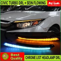 LAMPU LED DRL + SEIN FLOWING HONDA CIVIC TURBO 10th SEDAN HATCHBACK