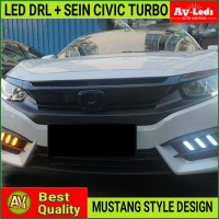 LED DRL SEIN RUNNING HONDA CIVIC TURBO SEDAN 2016 - 2018 MUSTANG STYLE