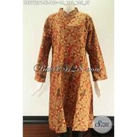 Tunik Batik Halus Wanita Lengan 7/8 Size XL, Kerah Shanghai DR9772PB