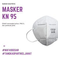 Masker Respirator KN95 Anti Corona Asap Debu PM 2.5 #partikeljahat