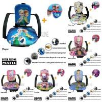 Kursi Bonceng Anak + Helm Retro Khusus Motor Matic