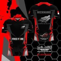 Kaos Jersey PUBG Free Fire Mobile Legend Baju Game Esport Costum