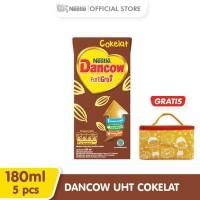 DANCOW Fortgiro Susu UHT Coklat 180ml 5 pcs Gratis Thermo Bag