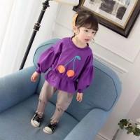 setelan baju sweater lucu anak perempuan lengan panjang import+celana