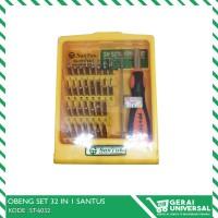 OBENG MICRO SET 32 in 1 + PIN SET SANTUS ST-6032
