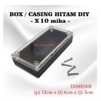 Box Casing Plastik X10 MIKA for Komponen DIY Ukuran 12 x 6 x 3cm