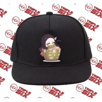 Topi Snapback Cotton Anime Nezuko chibi demon slayer kimetsu no yaiba