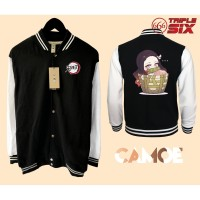 Jaket Varsity Baseball Anime Nezuko Chibi Demon Slayer Kimetsu no yaib