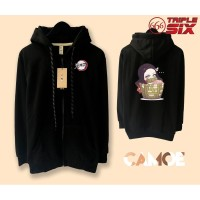 Jaket Hoodie Zipper Anime Nezuko Chibi Kimetsu no yaiba Demon Slayer