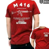 TSHIRT KAOS SENJATA M416 PUBG GAMERS HIGH QUALITY